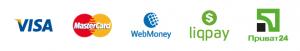 Варианты оплаты: Visa, MasterCard, Приват Банк, Webmoney, Наличными при встрече